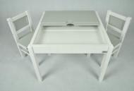 DREWEX staliukas su 2 kėd. Balta/pilka DrewexTableChairs