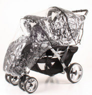 WOMAR raincover for a universal stroller Duo Tandem