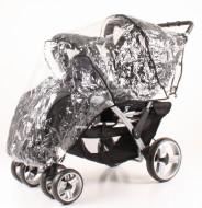WOMAR apsauga nuo lietaus vežimėliui Duo Tandem