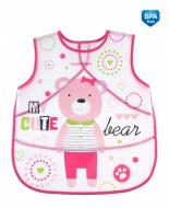 CANPOL BABIES soft waterproof apron Puppets, pink, 9/236_pin 9/236_pin