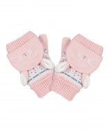 MOTHERCARE mittens girl Bunny 2pack TD182 323429