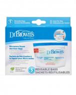 DR.BROWNS sterilizavimo maišeliai mikrobangų krosnelei 5 vnt. 960 960