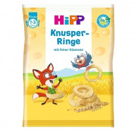 HiPP kukurūzų žiedai su sūriu 12m+ 25g 3554 3554