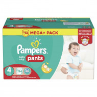 PAMPERS Sauskelnės Easy up Baby dry Dydis 4 (8-15kg) 94vnt Mega + Package 8001090311672