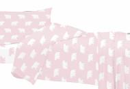 LITTLE patalynės komplektas 3-jų dalių Pink 100x130, 40x60, 70x140cm 100000382