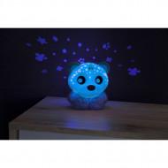 PLAYGRO naktinė lemputė-projektorius Meškiukas(mėlynas), 0186423 0186423
