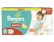 PAMPERSSauskelnės Easy up Baby dry Dydis 5 84vnt Mega + Package 8001090311702