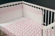 MILLI 3 dalių patalynės užvalkalų komplektas Flamingos EPO764**FLAWP3