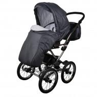 MILLI vežimėlis 3in1 Classic eco grey leather WGMILLICLEKOLEATHE03