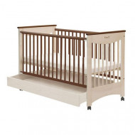DREWEX cot Mocca with drawer white transparent/chocolte 5907648972773