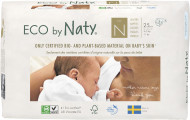 Eco by NATY diapers 0 Premature dydis, 25pcs 8178341