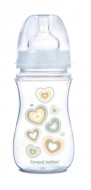 CANPOL BABIES wide neck anticolic bottle EasyStart - Newborn baby 240ml 35/217 beige hearts 35/217_bei