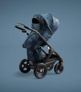 STOKKE vežimėlis Black Terrain Freedom Limited Edition 544401 544401