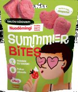 SUMMMER BITES šalčiu džiovintas braškių, jogurto ir bananų skonio užkandis 13g BITEPR00002