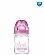CANPOL BABIES EasyStart Anticolic wide neck Bottle glass - Forest Friends 120ml 79/001