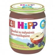 HiPP obuolių ir mėlynių tyrelė 4m+ 125g 4273 4273