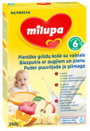 MILUPA grūdų košė su vaisiais 6m+ 250g V29E4U1