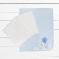 BABYBLOOMS vystyklo ir kojinių rinkinys Muslin cake Blue BMC00001