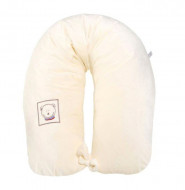 MILLI žindymo ir miego pagalvė nėščiosioms veliūrinė Comfort 165cm Bear cream Fikuszka Miś MAT kre