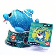 SQUIRBBLES interaktyvus vonios žaisliukas Melsvas delfinas, 4543168200586 4543168200586