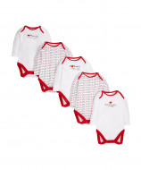 MOTHERCARE bodysuit long sleeves Mummy & Daddy white 5 pack premature 519148 519148