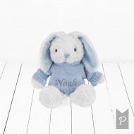 BABYBLOOMS chalato ir minkšto žaislo rinkinys Little Love Blue DITGBU241