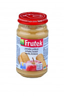 FRUTEK obuolių tyrelė su sausainiais 6m+ 190g 3838945511391
