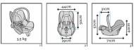 MAXI COSI automobilinė kėdutė - nešynė Cabriofix Triangle Black 8617330120 2147483647