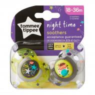 TOMMEE TIPPEE čiulptukas silikoninis Night Style 18-36m 2vnt, 43341385 43341385