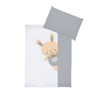 KLUPŚ patalynės komplektas 3 dalių Funny Bunny K068 K068