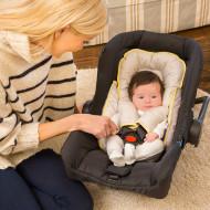 CLEVAMAMA apsauginė pagalvėlė automobilinei kėdutei su apsaugomis diržams 3601 3601