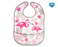 CANPOL BABIES washable bib with pocket Jungle, coral, 9/238_cor 9/238_cor