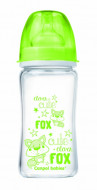 CANPOL BABIES EasyStart Anticolic wide neck Bottle glass Forest Friends 240ml 79/002_gre 79/002_gre