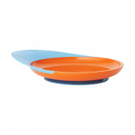 BOON plate with spill catcher 9m+ Orange/Blue B262 B262