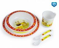 CANPOL BABIES plastikinių indų ir įrankių rinkinys 5 d. 4/401 4/401