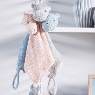 JOLLEIN cuddle cloth Hippo Light Grey 041-001-65130