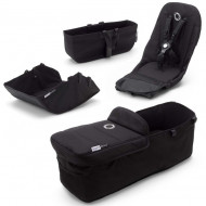 BUGABOO komplektas (sportinės dalies, lopšio, lopšio uždangalas, pirkinių krepšys) Donkey3 BLACK 180121ZW02 180121ZW02