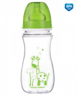 CANPOL BABIES wide neck anti-colic bottle  EasyStart Colourful Animals, 300 ml, 35/204 35/204