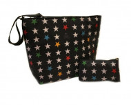 MY BAG'S Kūdikio reikmenų krepšiai, 2vnt Black Stars nbsststabl