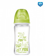 CANPOL BABIES plataus kaklelio buteliukas Anti-Colic EasyStart glass 240ml Forest Friends 79/002 79/002
