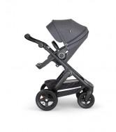 STOKKE  vežimėlio rėmas su sportine dalimi Trailz Black / Black - Black Melange 562202