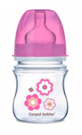 CANPOL BABIES wide neck anticolic bottle EasyStart - Newborn baby 120ml 35/216 pink flowers 35/216_pin