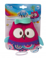 CANPOL BABIES Soft Musical Toy Forest Friends, 68/048 pink owl 68/048_pin