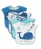 MOTHERCARE bib 4 pcs Whale 802715 X5553