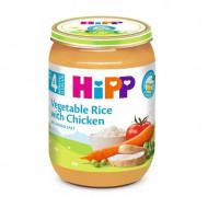 HiPP daržovių su ryžiais ir vištiena tyrelė 190g 4m+ 6250 6250