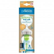 DR.BROWNS stiklinis buteliukas plačiu kakleliu Options+ 270ml WB91700-P4 WB91700-P4
