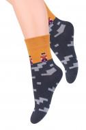 STEVEN Socks orange/black 014-212 26-28 014-212