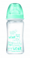 CANPOL BABIES EasyStart Anticolic wide neck Bottle glass Forest Friends 240ml 79/002_blu 79/002_blu