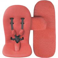MIMA komplektas (čiužinys, paminkštinimas, lopšio uždangalas) Coral Red S103CR S103CR