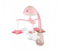 CANPOL BABIES 3in1 muzikinė karuselė su projektoriumi ir pliušinias žaislais, rožinė, 75/100_pin 75/100_pin